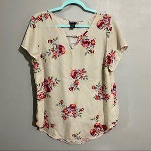 Torrid Flower Shirt, size 0